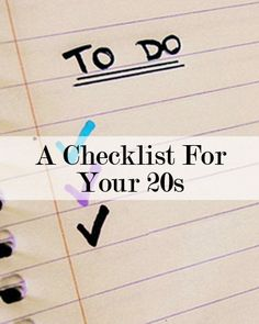 The Ultimate To-Do List for Your 20s