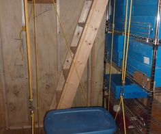 How to build a dumbwaiter for a shed