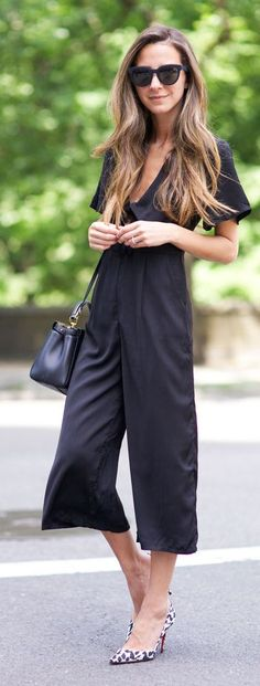 Navy Jumpsuit Chic Style by Something Navy