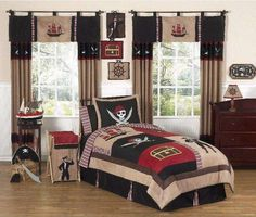 Pirate Treasure Cove Bedding Collection by JoJo Designs for $109.99 from http://www.bedding.com