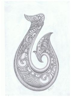 Hei Matau fish hook tattoo idea. Tribal Hawaiian Polynesian