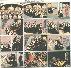 Polly and Her Pals, de Cliff Sterrett - 1927 Comic Drawing, Comic Panels, Classic Comics, Cubism, Cliff, Comic Strips, Caricature, Newspaper, Illustrators