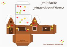 I collected for you over 10 awesome free printable DIY paper houses – gingerbread houses, house boxes, lantern houses, toy house. Gingerbread House Template, Christmas Gingerbread House, Miniature Christmas, Christmas Crafts, Gingerbread Houses, Box Houses, Paper Houses, Free Printable Planner Stickers, Printable Paper