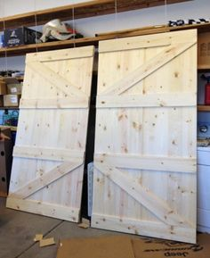 How To Make A Barn Door Headboard . step by step tutorial on how to make a barn door headboard with optional reading lights added . Home Projects, Diy Furniture, Remodel, Making Barn Doors, Wood Projects, Diy Door, Barndoor Headboard, Home Diy, Doors