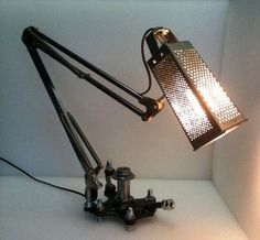 Cheese Grader Lamp