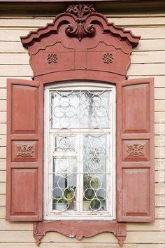 Wooden window   Irkutsk