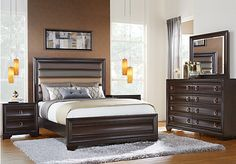 Essonne Chocolate 5 Pc King Upholstered Bedroom. $1,199.99.  Find affordable King Bedroom Sets for your home that will complement the rest of your furniture.