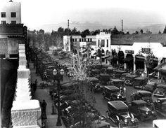 Beverly Drive, Beverly Hills 1928 South of Santa Monica Blvd. California History, Visit California, Vintage California, Southern California, Los Angeles Hollywood, Old Hollywood, Santa Monica Blvd, Hollywood Boulevard, Cool