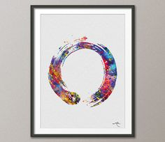Zen Circle Enso Symbol Buddhism Meditation Yoga by CocoMilla