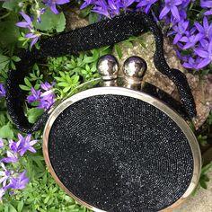 Art Deco black beaded bag, Fre-Mor 1940s beaded box purse, Stunning! Evening bag, Black purse,  vintage beaded bag, TwoSwansSwimming, by TwoSwansSwimming on Etsy