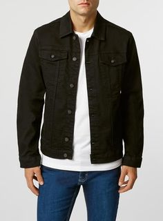 e9b67232109 black denim jacket Black Denim Jacket Men