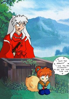 Inuyasha and Kagome kissing??? by ~ConArt-3 on deviantART