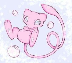 Mew & Bubbles Old Pokemon, Pokemon Mew, Cute Pokemon, Mew And Mewtwo, Mythical Pokemon, Catch Em All, Digimon, Smurfs, Doodles