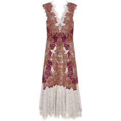 Jonathan Simkhai Metallic Embroided Dress (17.501.915 IDR) ❤ liked on Polyvore featuring dresses, metallic, ruffle cocktail dress, embellished dress, tea-length dresses, embellished cocktail dresses and pleated dress
