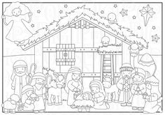 Nativity Digital Clip Art Set and Coloring Pages -Personal and Commercial- Christmas, Baby Jesus, Ma Christmas Nativity, Christmas Clipart, Christmas Crafts, Christmas Baby, Nativity Coloring Pages, Christmas Coloring Pages, Bible Crafts, Paper Crafts, Sunday School