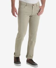 Wrangler Men's 70th Anniversary Collection Greensboro Regular Fit Jeans - Tan/Beige 36x32