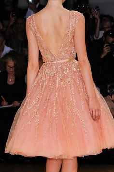 Detail from Elie Saab Fall 2012 Couture #Coral