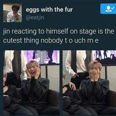 Jin is so extra #BtsJin #JinDadJockes #3rdFromTheLeft