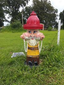 gnome painted adopted fire hydrant