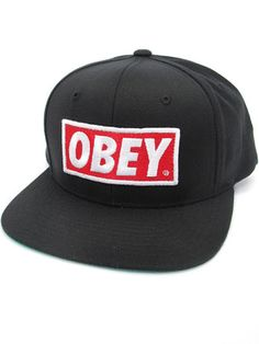 Original Snap Back Hat, Hats and Beanies - Obey Clothing UK Store - Obey Mens Clothing, Obey Womens Clothing, Obey T shirts and all things Shepard Fairey , Obey Propaganda and Obey Giant. ($20-50)