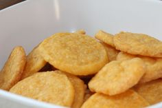 the most delicious and simple snack ever - home made cheese crackers
