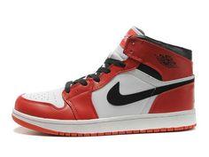 F4T6J081 authentique Nike Air Jordan 1 Retro Rouge Blanc Chaussures Hommes, nike air jordan retro 1 pas cher