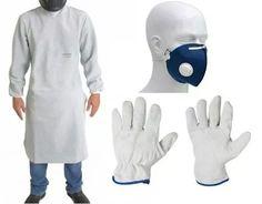 ac86d19fec7fa avental de raspa barbeiro soldador + luva vaqueta +2 mascara