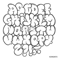 Set street type calligraphy design alphabet vector image on VectorStock Graffiti Lettering Alphabet, Graffiti Text, Tattoo Fonts Alphabet, Graffiti Doodles, Graffiti Drawing, Street Art Graffiti, Grafitti Letters, Graffiti Alphabet Styles, Calligraphy Alphabet