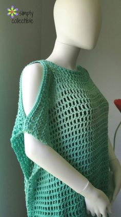 Crochet Tunic Pattern, Coraline's Endless Summer Cover-up, SimplyCollectibleCrochet.com
