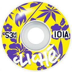 CLICHÉ Highwaiian roues de skate yellow purple cannabis 53mm 101A 30,00 € #skate…