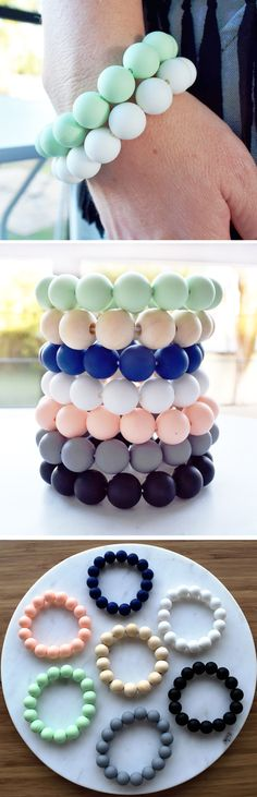 Women's Teething Bracelets - stylish teething accessories handmade from 100%…