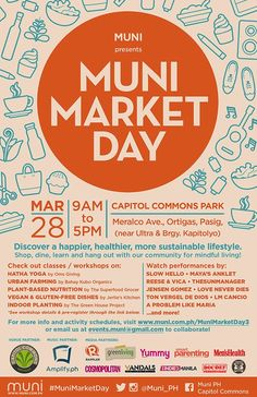 My Metro Lifestyle: Shop for a Healthier Lifestyle at Muni Market Day