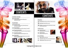 magazine contents page layout Layout Inspiration, Graphic Design Inspiration, Page Layout, Layout Design, Table Of Contents Design, Page Table, Magazine Contents, Magazine Crafts, Content Page