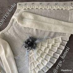 Brazilian Crochet And Handicraft Baby Knitting Patterns, Baby Girl Patterns, Crochet Vest Pattern, Diy Crafts Knitting, Knitting Blogs, Knitting Stitches, Diy Crafts Dress, Hippie Baby, Crochet Baby Booties