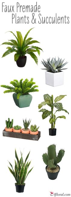 Faux Premade Plants