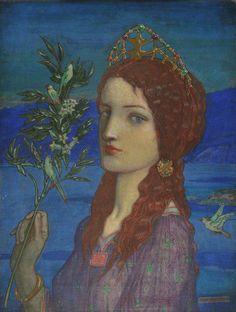 The Messenger of Tethra by John Duncan (Scottish 1866-1945)