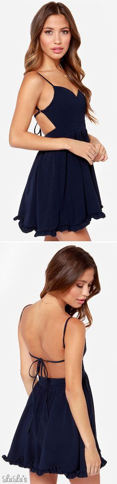 LULUS Exclusive Can't Go Wrong Navy Blue Dress