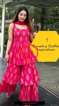 Top 9 Dussehra Outfits Inspirations That Are Trending in 2019 Source by dresses Sharara Designs, Kurta Designs Women, Kurti Designs Party Wear, Stylish Dress Designs, Designs For Dresses, Stylish Dresses, Fashionable Outfits, Dressy Outfits, Women's Fashion Dresses
