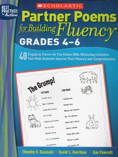Partner Poems for Building Fluency: Grades 40 Engaging Poems for Two Voices With Motivating Activities That Help Students Improve Their Fluency and Comprehension, a book by Tim Rasinski, David Harrison, Gay Fawcett Reading Fluency, Reading Intervention, Reading Strategies, Reading Skills, Partner Reading, Listening Skills, Reading Resources, Third Grade Reading, Middle School Reading