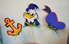 Donald Duck Themed Birthday Party Table Centerpiece