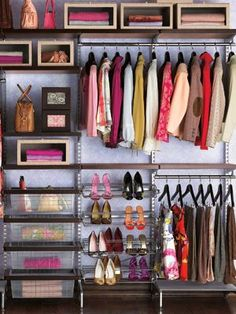 A #closet that makes it easy to see each and every wonderful piece! [Promotional Pin]