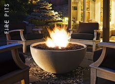 Add a warm, beautiful fire bowl to your outdoor space. Explore Starfire Direct for gas and propane fire bowls to give your patio the perfect ambiance. Fire Pit Wall, Metal Fire Pit, Concrete Fire Pits, Diy Fire Pit, Concrete Bowl, Diy Concrete, Fire Fire, Concrete Projects, Small Fire Pit