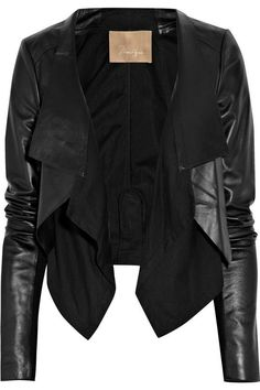 beautiful jacket in leather and suede