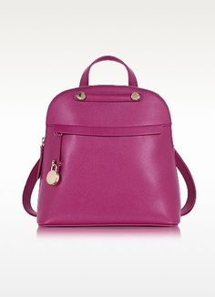 FURLA PIPER M EMBOSSED LEATHER BACKPACK. #furla #bags #leather #lining #backpacks #