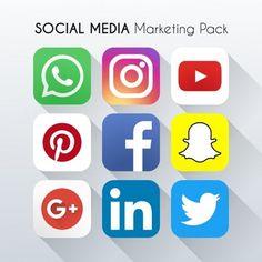 Social Media Ícone de Marketing Vector