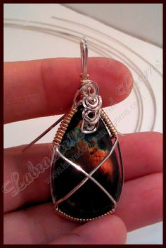 How To Wire Wrap a Stone. I just found my gemstones the other day, too! Yayness!