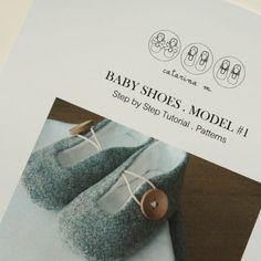 Tutorial passo passo e modelli  scarpe bambino. di catarinamcrafts, $8.50
