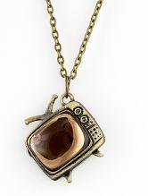 Retro Copper Television Chain Necklace $9.16