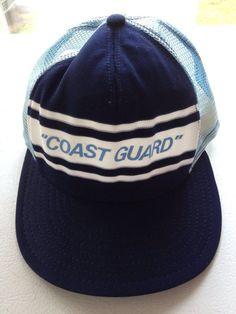 VTG AJD Coast Guard Snapback Cap