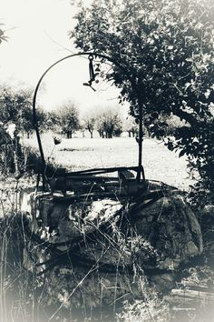 Un vecchio pozzo...del passato.  Foto : Annamaria Guarino